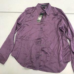 Ralph Lauren NWT Silk Purple Shirt